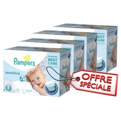 Giga Pack d'une quantité de 540 Couches de la marque Pampers New Baby Sensitive de taille 2