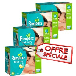 Maxi Giga Pack Jumeaux de 920 Couches Pampers Baby Dry taille 4 sur Promo Couches