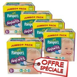 Maxi giga pack jumeaux 736 Couches Pampers Active Fit de taille 5 sur Promo Couches