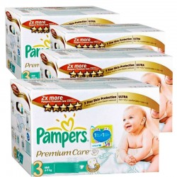 Giga pack 336 Couches Pampers Premium Care Pants taille 3 sur Promo Couches