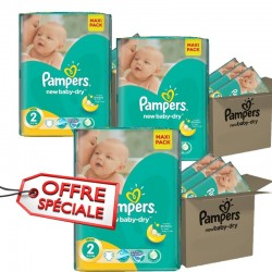 Gros pack jumeaux 952 Couches de la marque Pampers New Baby Dry taille 2