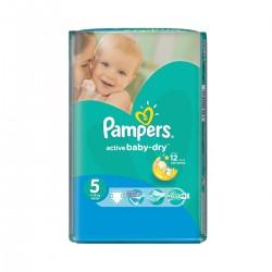 Pack économique 28 Couches de la marque Pampers Active Baby Dry de taille 5 sur Promo Couches