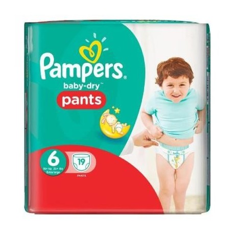 Couches pampers baby dry pants taille 6 en solde 19 couches sur promo couches - Promo couche pampers auchan ...