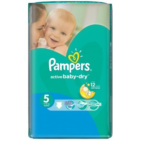 Couches pampers active baby dry taille 5 pas cher 58 couches sur promo couches - Promo couche pampers auchan ...