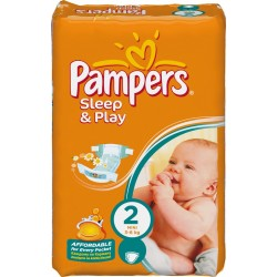 Pack 18 Couches Pampers Sleep & Play de taille 2 sur Promo Couches