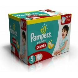 Giga Pack d'une quantité de 210 Couches de Pampers Baby Dry Pants de taille 5 sur Promo Couches