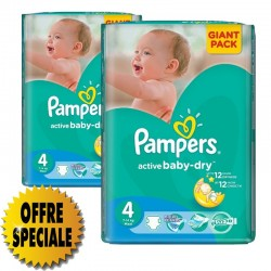 Giga Pack 522 Couches Pampers Active Baby Dry taille 4
