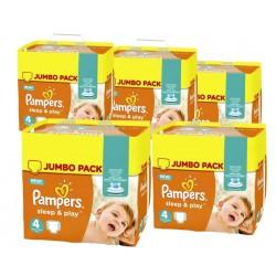 Pack économique d'une quantité de 550 Couches de Pampers Sleep & Play taille 4 sur Promo Couches
