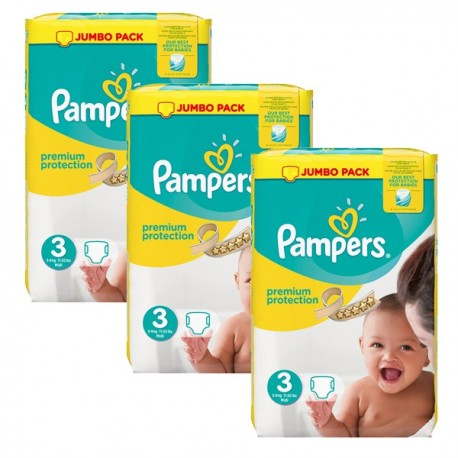 Maxi Giga Pack 198 Couches Pampers Premium Protection 3 sur Promo Couches