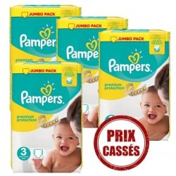 Maxi Giga Pack 330 Couches Pampers Premium Protection 3