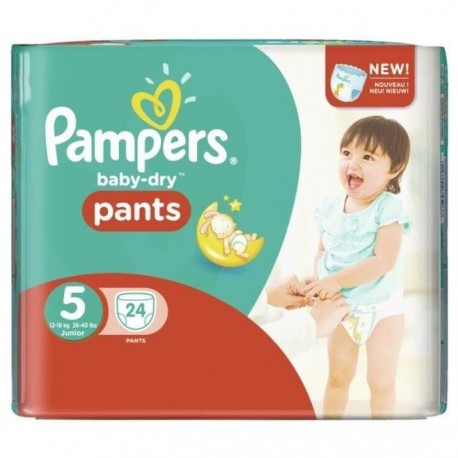 24 couches pampers baby dry pants taille 5 pas cher sur promo couches - Couches pampers en promo ...