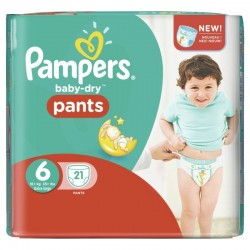 Pack 21 Couches Pampers Baby Dry Pants 6