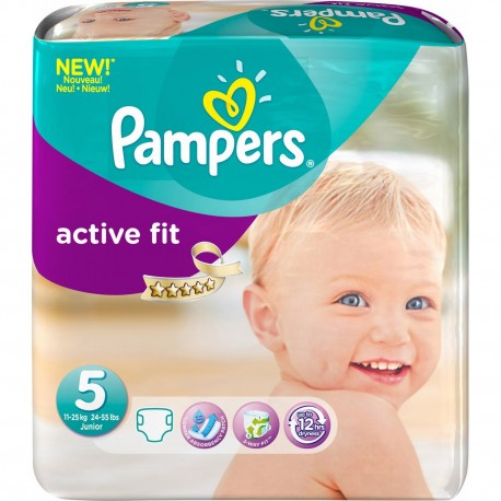 Couches pampers active fit taille 5 moins cher 58 couches sur promo couches - Couches taille 1 pas cher ...