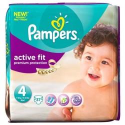 Pack d'une quantité de 37 Couches de la marque Pampers Active Fit taille 4 sur Promo Couches