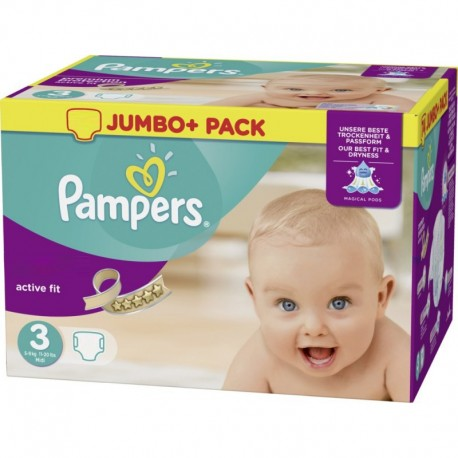 Couches pampers active fit taille 3 bas prix 120 couches sur promo couches - Couches pampers en promo ...