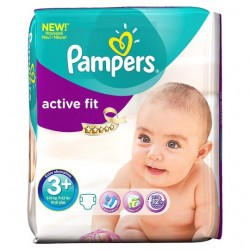Pack 70 Couches Pampers Active Fit de taille 3+