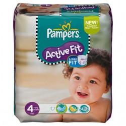 Pack 54 Couches de la marque Pampers Active Fit taille 4 sur Promo Couches