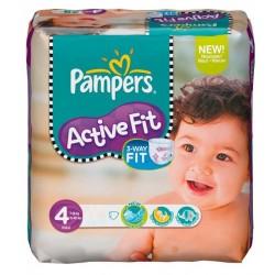 Pack d'une quantité de 78 Couches Pampers de la gamme Active Fit taille 4