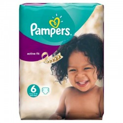 Pack 31 Couches Pampers Active Fit taille 6 sur Promo Couches