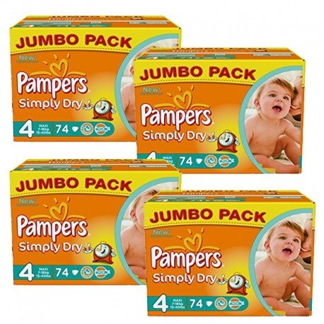 294 couches pampers simply dry taille 4 bas prix sur promo couches - Couche pampers promo auchan ...