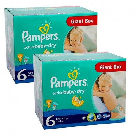 Giga pack 288 Couches Pampers Active Baby Dry 6 sur Promo Couches