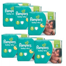 Pack économique 301 Couches Pampers Baby Dry 5+