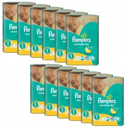 Mega Pack 860 Couches Pampers New Baby Dry taille 1