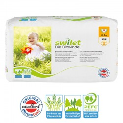 Pack 28 Couches bio écologiques Swilet taille 2 sur Promo Couches