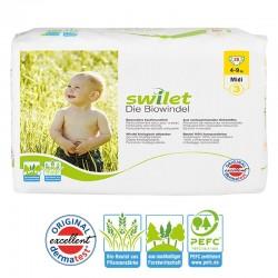 Paquet 28 Couches bio écologiques Swilet taille 3 sur Promo Couches