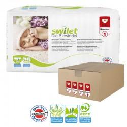 Maxi pack 120 Couches bio écologiques Swilet taille 1 sur Promo Couches