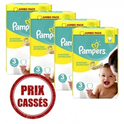 Maxi Giga pack 200 Couches Pampers Premium Protection taille 3