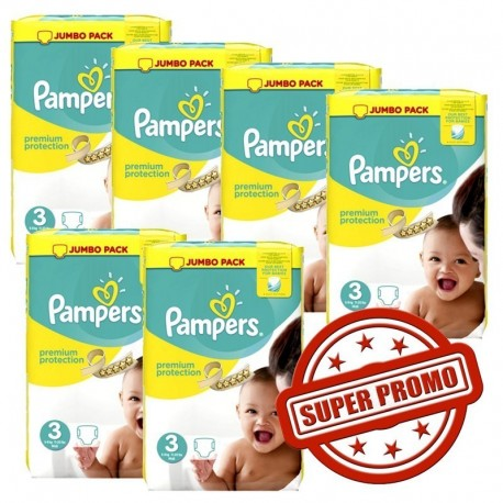 Giga pack 400 Couches Pampers Premium Protection taille 3 sur Promo Couches