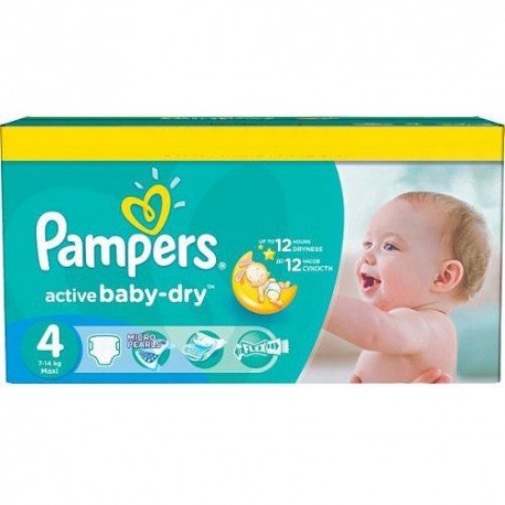132 couches pampers active baby dry taille 4 en solde sur promo couches - Couche pampers baby dry taille 4 ...