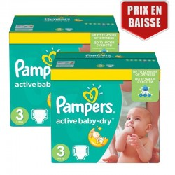 Maxi Pack 410 Couches Pampers Active Baby Dry taille 3 sur Promo Couches