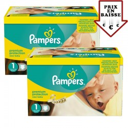 Giga pack 345 Couches Pampers New Baby taille 1 sur Promo Couches