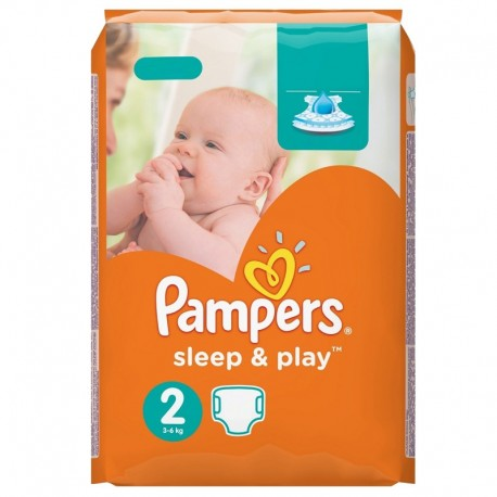 Pack 68 Couches Pampers Sleep & Play taille 2 sur Promo Couches