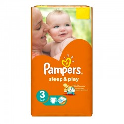 Pack 16 Couches Pampers Sleep & Play taille 3