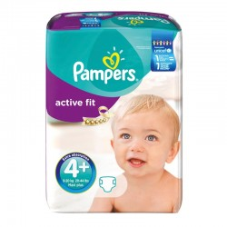 Pack 94 Couches Pampers Active Fit taille 4+ sur Promo Couches