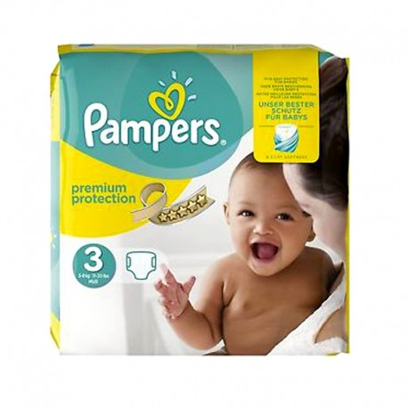 Pack 80 Couches Pampers Premium Protection - New Baby taille 3 sur Promo Couches