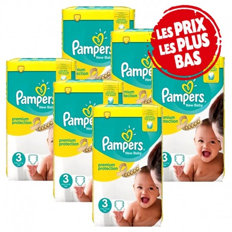 Maxi Giga Pack 348 Couches Pampers Premium Protection taille 3 sur Promo Couches