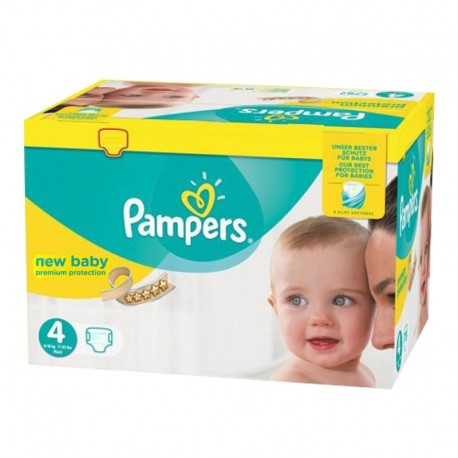Pack 168 Couches Pampers Premium Protection - New Baby taille 4 sur Promo Couches