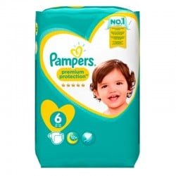 Pack 120 Couches Pampers Premium Protection - New Baby taille 6 sur Promo Couches