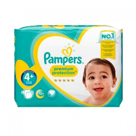 Pack 62 Couches Pampers Premium Protection - New Baby taille 4+ sur Promo Couches