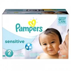 Giga Pack 360 Couches Pampers New Baby Sensitive taille 2