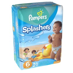 Pack 21 Couches de bains Pampers Swimming Pants Splachers taille 6