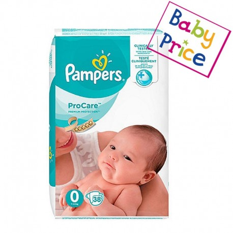 Pack 38 Couches Pampers ProCare Premium protection taille 0 sur Promo Couches