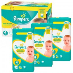 Mega Pack 270 Couches Pampers New Baby - Premium Protection taille 4