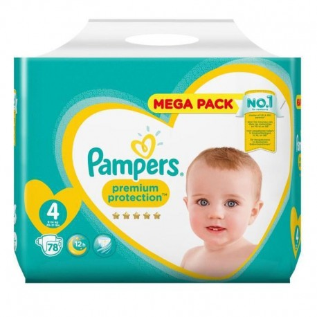 Pack 78 Couches Pampers New Baby - Premium Protection taille 4 sur Promo Couches