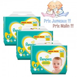 Giga Pack Jumeaux 468 Couches Pampers New Baby - Premium Protection taille 4