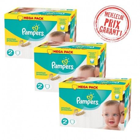 Giga Pack Jumeaux 720 Couches Pampers New Baby - Premium Protection taille 2 sur Promo Couches